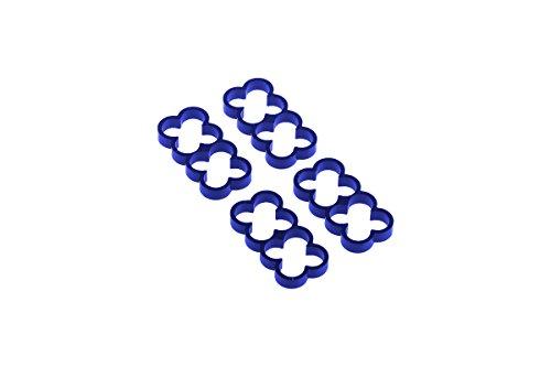 Alphacool 24789 Eiskamm Alu X8-4mm Blue - 4 Stück Modding Eiskamm