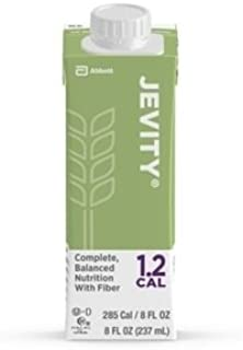 Jevity 1.2 Cal Formula with Fiber, 8 Ounce Carton, Unflavored, Abbott 64625 - Case of 24