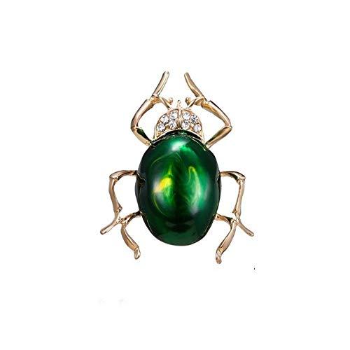 Broches de escarabajo de diamantes de imitación Broche de insectos de cristal Escarabajos Clip de bufanda de moda Broche de joyería Ramo Vintage Bugs Insignia de esmalte-1