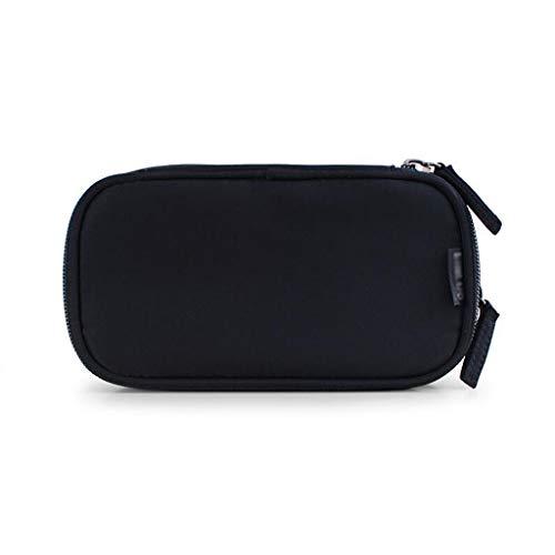 DSJSP Double-Couche Sac cosmétique, Sac de Stockage Portable, Voyage Out, Taille, Noir, Rouge Sac cosmétique (Color : Black, Size : S)