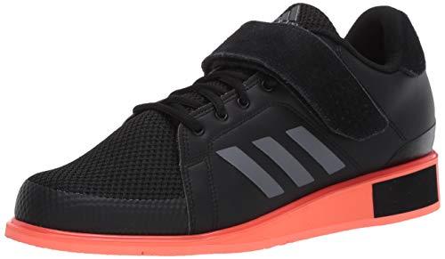 adidas Men's Power Perfect Iii. Sneaker, Core Black/Night Met./Signal Coral, 3 UK
