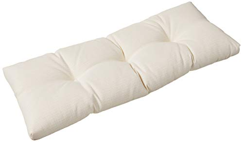 "Klear Vu The Gripper Non-Slip Tufted Omega Universal Bench Cushion, 36"", Ivory White"