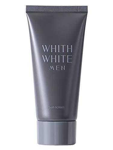 日焼け止め メンズ 【 SPF50 + PA ++++ 】 ベタつかない ジェル タイプ フィス ホワイト 「 ウォータープルーフ ロングUVA 対応 」「 無添加 敏感肌 男性 」「 日本製 せっけん で落とせる 」 50g