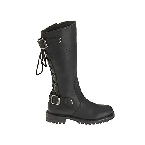 The Boot Store Harley DAVlDSON Alexa - Botas clásicas de piel para mujer, color negro, Black, 36 EU