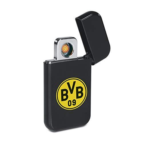 Borussia Dortmund USB Feuerzeug Glühspirale | Elektronisches USB-Feuerzeug aufladbar | BVB Elektronisches Feuerzeug Fanartikel aus dem Dortmund Fanshop [Schwarz]