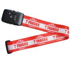 TSAロック付き スーツケースベルト FRAGILE(レッド)