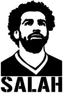 Maple Enterprise Liverppol Football Club Player Mohammed Salah Black Vinyl Decal Sticker for Wall Decoration car Bonnet