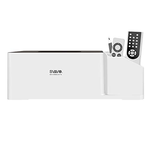 SVAVO Plastic Napkin Dispenser Tissue Box with Storage Box for Bathroom, Kitchen and Office Room …