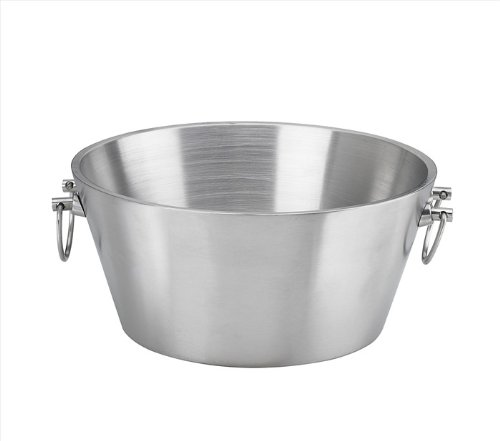 Kraftware Party Tub - 15' inch Doublewall Insulated Stainless-Steel, Back Yard BBQ Beer Tub Great for Weddings, Special Events and Parties