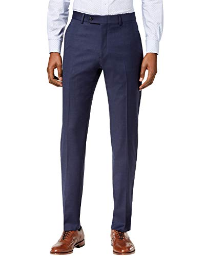 Tommy Hilfiger Men's Modern Fit Suit Separates, New Navy Sharkskin, 30W x 30L