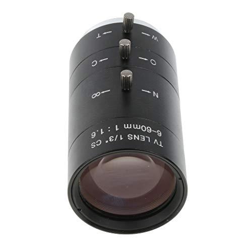 Baoblaze 1/3'' 6-60mm Manuelle Iris Zoom CS Mount TV Objektiv Schwarz
