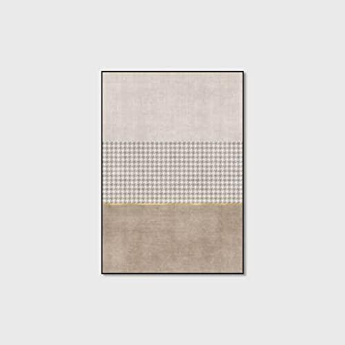 WIVION Moderne Teppiche Einfache Geometrie Heimteppich Große rutschfeste Bodenmatte Home Decor Trainingsmatte Yogamatte Für Wohnzimmer Schlafzimmer Küche,A,80x120cm(31x47inch)