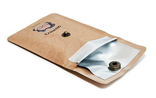 Cenicero de bolsillo Granny's exclusivo | para viajes | 2 unidades | Cenicero portátil to go | 7,5 x 9 cm | Cenicero para cualquier bolsillo