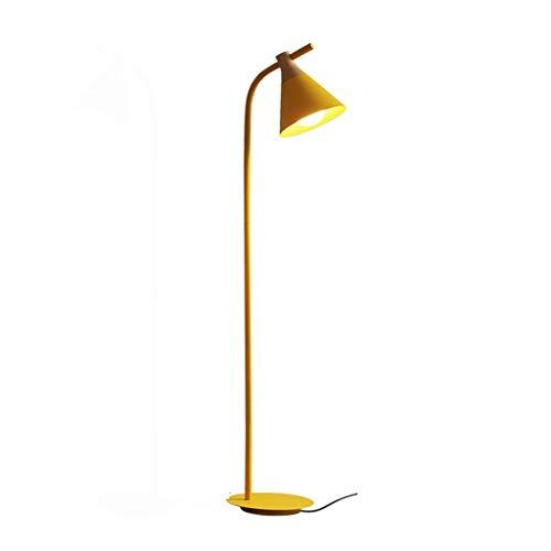 jinyi2016SHOP Lámpara de Pie Interior Creative Warm Bedroom Bedside Study Lámpara de pie Cuatro Colores Opcional para Hogar, Salón y Dormitorio (Color : Yellow)