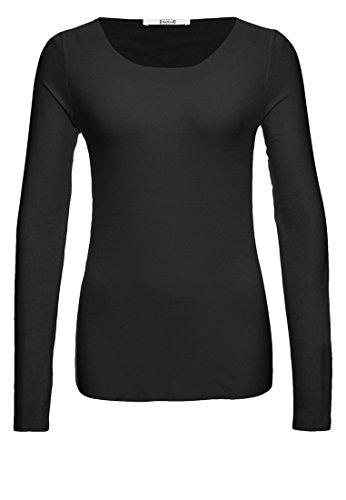 Wolford Damen 59782 T-Shirt Langarm.7005 Black,Small (S)