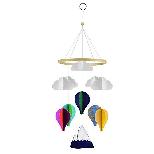 SODIAL Baby Krippe Mobile HEI? Luft Ballons und Wolken Kinder Zimmer Dekoration, Baby Schlaf Zimmer H?ngendes Bett Bell Spielzeuge, für Jungen und M?dchen