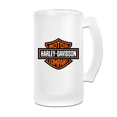 Jldoenh Udjgn - Tazza da birra smerigliata 'Harley Davidson' da 500 ml, tazza da vino in vetro regalo