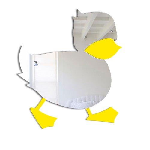 Mungai Mirrors - Espejo de fibra acrílica para niños (15cm), diseño de pato