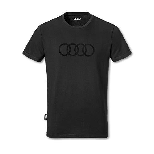 Audi T-Shirt Ringe, Herren, schwarz, M