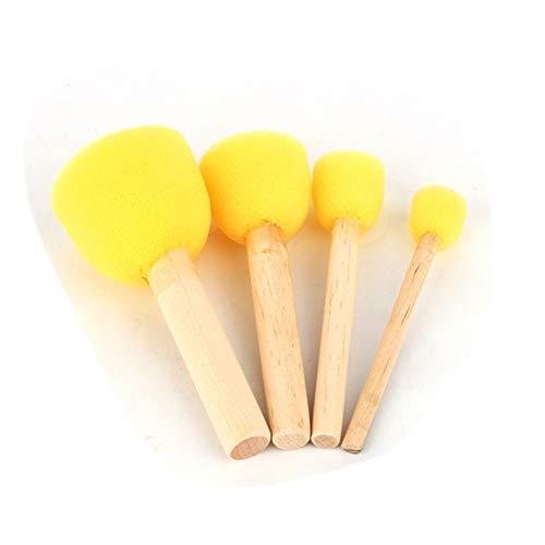 4 stks Sponge Stipple Penseel Sjabloon van Dabber Foam Meubels Ambachten Schilderen Tool voor Kinderen