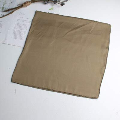 YDMZMS 70cm vaste vierkante sjaal haarelastiekband vrouwelijke zijden sjaal Wilder professionele vlieggenoot kleine sjaal decoratieve legergroen