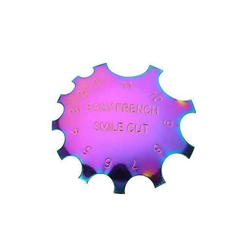 Modèle Nail Art, outil de manucure en acier inoxydable de mode manucure facile sourire français sourire bord coupé