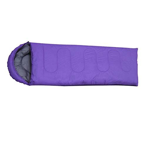 Queiting Mumienschlafsack Schlafsack Winter XXL 1000g Camping Warm Halten Tragbar Outdoor Wandercamping Wanderschlafsack Lila