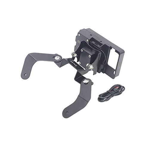 Xuefeng Cargador inalámbrico de Motocicleta Soporte de teléfono móvil Soporte de navegación para Yamaha Tmax 530 T-MAX 530 2012-2016 (Color : USB Charging Only)