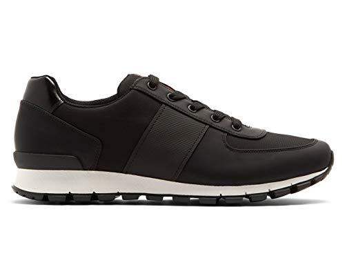 Prada Herren Match Racer Sneaker, Nero (Schwarz) 4E2718, Schwarz (Nero (Black)), 46.5 EU