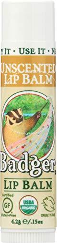 Badger Balm Orgánica sin aroma Lip Care Palo 4,2 g