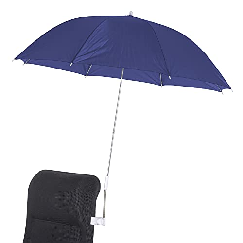 Stuhlschirm Sonnenschirm Ø 106 cm - blau - Schirm bis 2,5 cm Dicke - UV Schutz