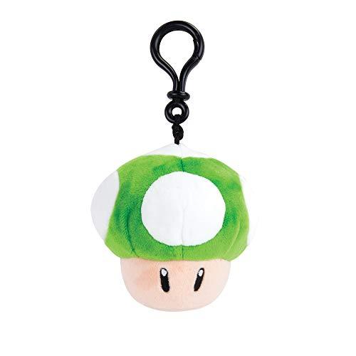 Nintendo Mario Kart Mocchi Mocchi Plüsch Spielzeug Schlüssel-Anhänger 1Up Mushroom Pilz / Mitgebsel für Kinder-Geburtstage Ranzen Rucksack Tasche 10 cm - grün Weiss