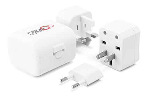 CABIN GO Travel Adapter Adattatore Universale da Viaggio per US/EU/UK/aus Multi Nazione Spina da Parete Universale Adattatore Alimentazione Caricatore Bianco