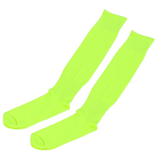 Sourcingmap Sport Hockey Basketball Fußball Fußball Socken Paar fluoreszierend gelb
