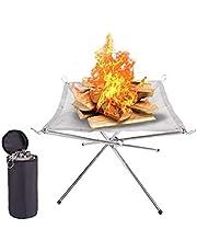 vvd Bärbar eldstad utomhus skava stålgaller eldställ perfekt för camping bakgård trädgård grillartiklar