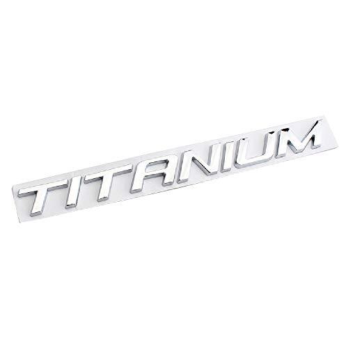 No/Brand 20.5Cm 3D Letter Chrom Abzeichen Embleme Aufkleber Titanium Für F-Ord Explorer Autokörperdekoration,Silber