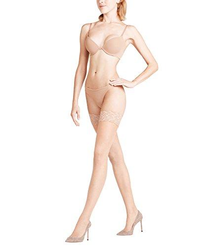 FALKE Damen Stay Ups Shelina 12 Denier - Ultra-Transparente, 1 Paar, Beige (Brasil 4679), 9.5-10