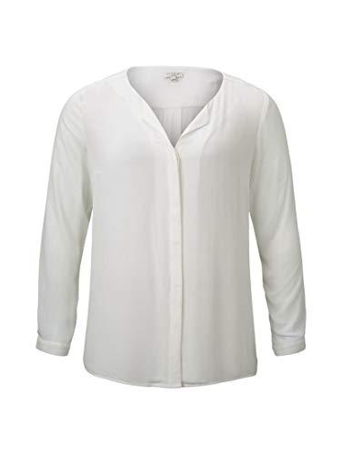 Tom TAILOR Damen Basic Bluse, Cremefarben (Cremefarben 10315), 48