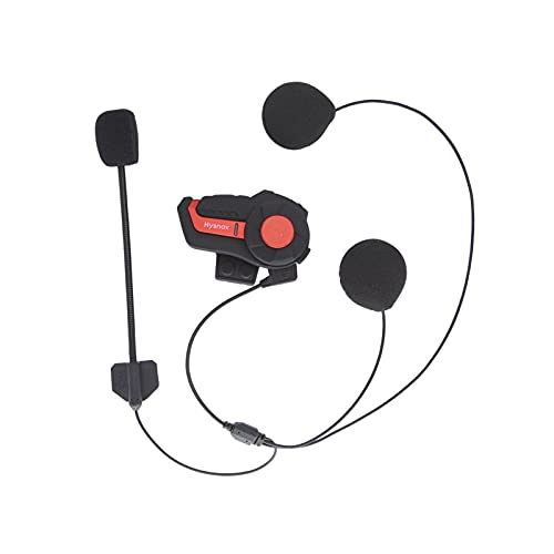 Montloxs Intercomunicador BT para Motocicleta, Casco, Auricular, 1000M, interfono Manos Libres IP66, Impermeable, 2 Conductores, Radio FM dúplex Completo para 3 Conductores de Motocicleta