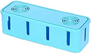 Box To Regulate The Wiring Outlets Of The Joint Electricity-Plastic,Blue