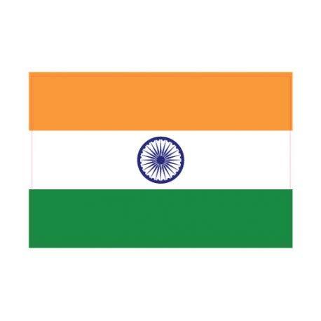 Sticker, motief: Indiase vlag 4 cm