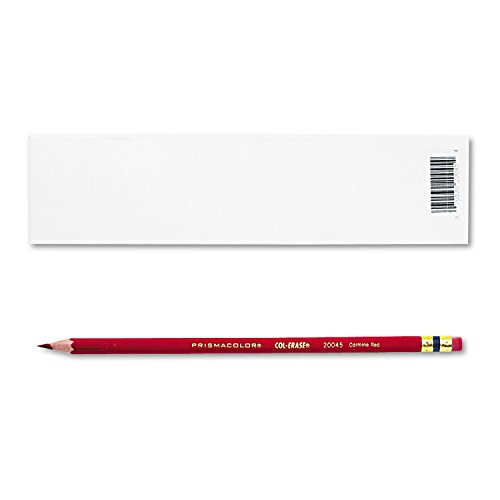 Prismacolor, 20045, Col-Erase Pencil w/Eraser, Carmine Red Lead/Barrel, Dozen, Sold As 20 Dozens