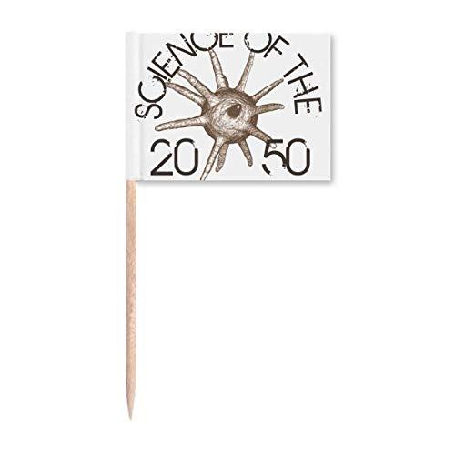 Science Cell Line Illustrate Muster Zahnstocher Flaggen Marker Topper Party Dekoration