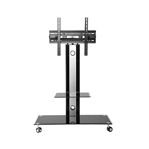 N/Z Home Equipment Rolling Trolley Mount Tv Stand Universal Tv Stand Trolley Floor LCD Tv Conference Cart Tv Mobile Rack Shelf for 32 65 inch Flat Screen Tv