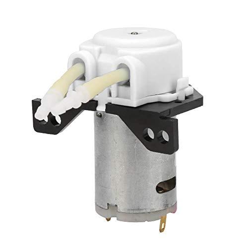 Schlauchpumpe, DC6V Micro Water Liquid Schlauchpumpe für Aquarium Lab Analytical 2 * 4mm(Weiß)