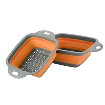 Foldable Dish Tub Silicone Colander, Fruit Vege...