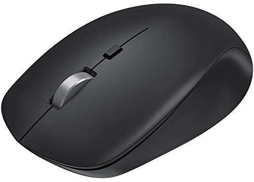 Seenda Wireless Bluetooth Mouse Compatible with Laptop/iPad/iPhone/Mac(iOS 13 or above)/PC/Windows/Android, Dual Bluetooth 4.0 + 2.4G USB Wireless Mouse Optical Mice Cordless Computer Mouse, Black
