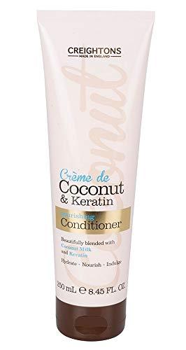 Masque Crème Noix de Coco et Keratin pour Cheveux abîmés Secs Soin Intensif Capillaire Made in UK 250 ML Sans Sulfate Sans Paraben