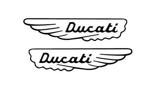 2 ADESIVI DA SERBATOIO DUCATI MECCANICA MONSTER GT 1000 SCRAMBLER SUPER SPORT ali (oro)