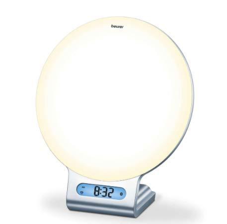 Beurer 4-in-1 Bluetooth Wake-Up Light, Daylight Sunrise Simulation & Sunset Fading, Alarm Clock,...
